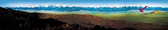 Sangre de Cristo Mountains - Bed and Breakfast in Westcliffe, Colorado, a rural community established at the base of the World's Longest Mountain Range - The Sangre de Cristo Mountains. Near Colorado Springs, Pueblo, Colorado City & Cánon City.